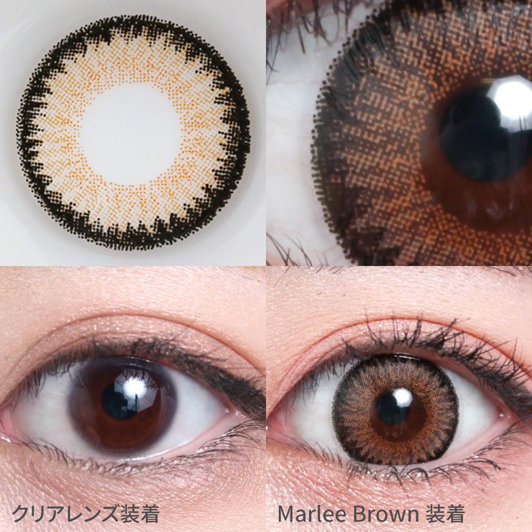 度あり・度なし マーリーブラウン着用画像 黒目がちでもしっかり発色