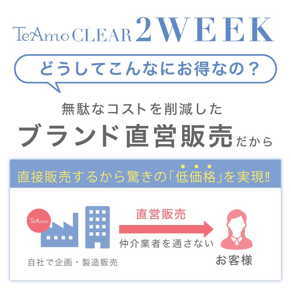 TeAmo CLEAR 2WEEK 低コストの説明図