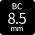 BC:8.5mmカラコン