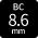 BC:8.6mmカラコン