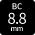 BC:8.8mmカラコン