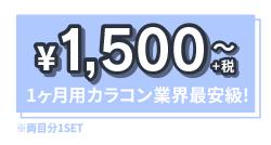 激安価格!1ヶ月カラコン業界最安級!1500円~