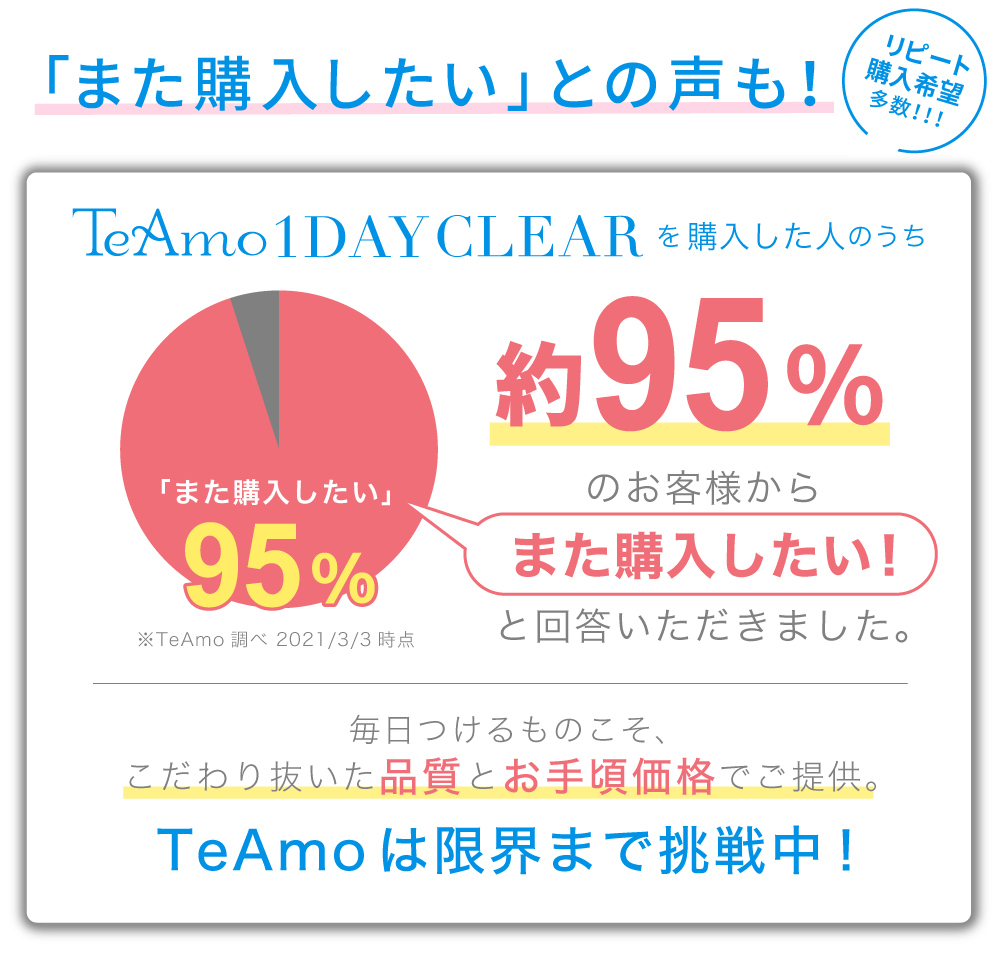 TeAmo1DAY CLEAR 1day リピート希望