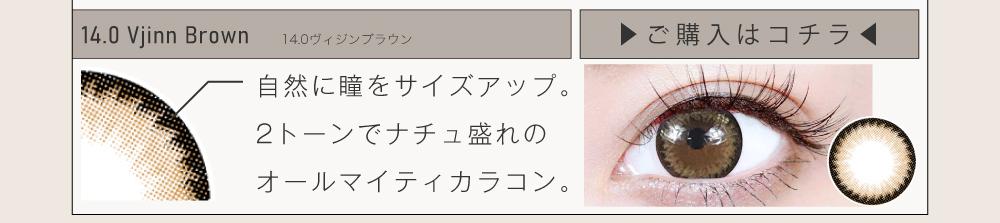 ナチュラルカラコン「Vjinn Series(ヴィジンシリーズ)」14.0mmの紹介