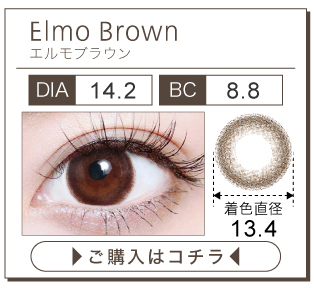 「TeAmo 1MONTH(ティアモワンマンス)」エルモブラウン購入ページボタン