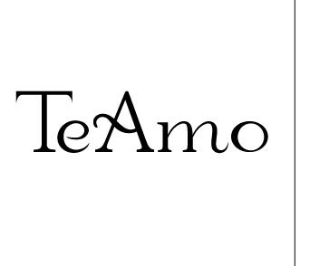 「TeAmo 1MONTH(ティアモワンマンス)」ロゴ