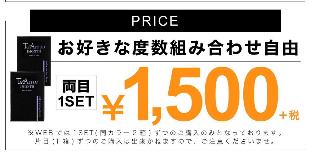 「TeAmo 1MONTH(ティアモワンマンス)」価格