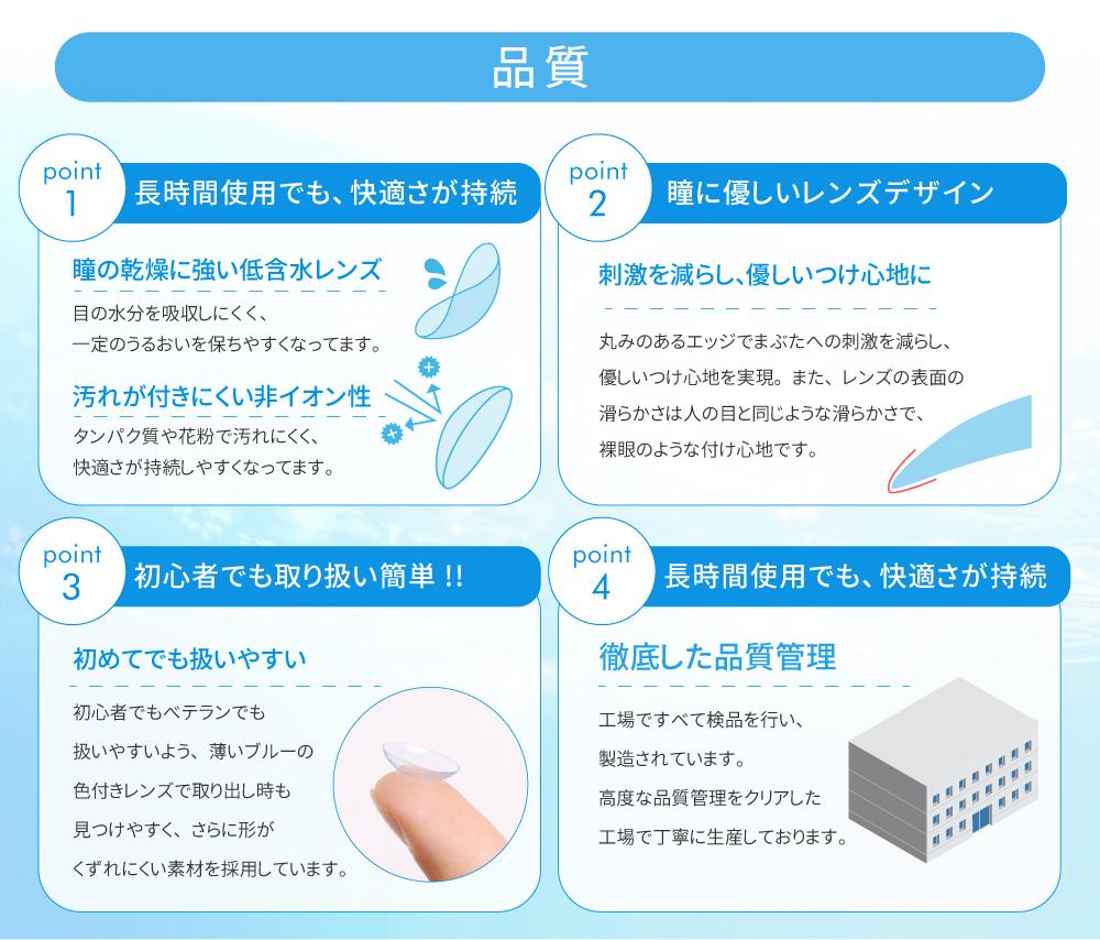 「TeAmo1day CLEAR 定期便」品質が認められ世界13ヵ国で販売 本製品「TeAmo1DAY CLEAR」は高度管理医療機器の認定を受け、高い品質管理基準をクリアした工場で製造されています。